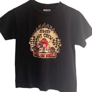 M&M Kids T-Shirt Black Cars Racer Children Youth